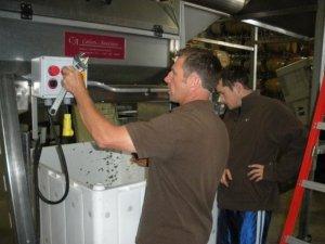 Mike Lancaster & intern Creighton Brown hard at work